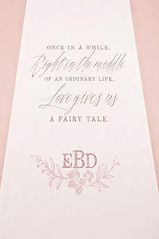 Personalized Modern Fairy Tale Aisle Runner