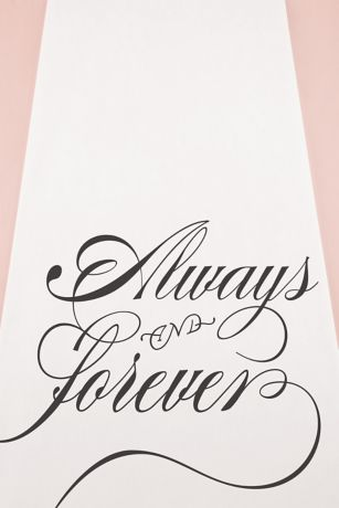Always and Forever Aisle Runner