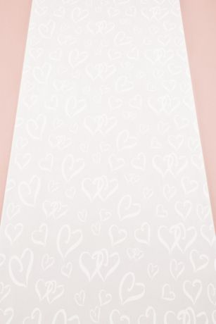 Heart Design Aisle Runner