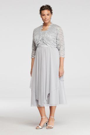 Tea Length White Lace Dress
