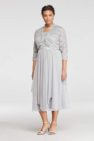 Mother Of The Bride Tea Length Dresses Davids Bridal