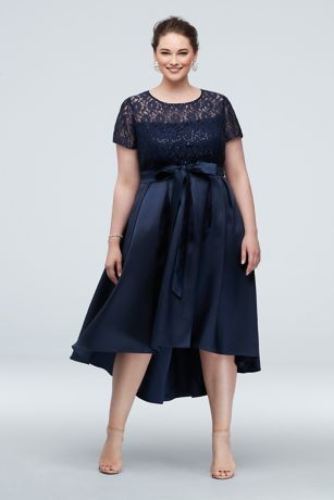 High Low Ballgown Short Sleeves Dress - Ignite
