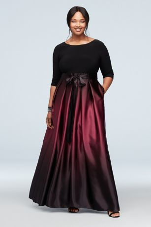 Long Ballgown 3/4 Sleeves Dress - SL Fashions