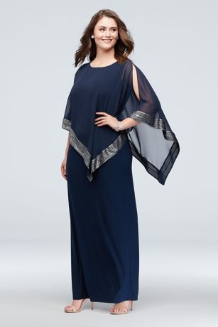 Long Sheath Capelet Dress - Ignite