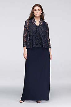 Long A-Line Jacket Formal Dresses Dress - Onyx