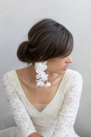Cascading Silk Flower Earrings