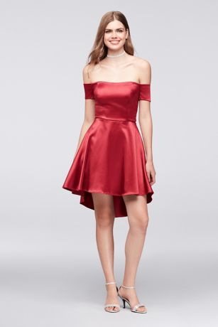 High Low A-Line Off the Shoulder Dress - My Michelle