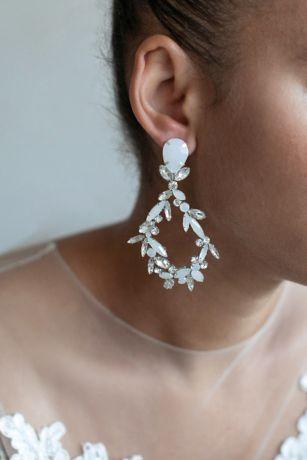 Dramatic Navette Teardrop Earrings