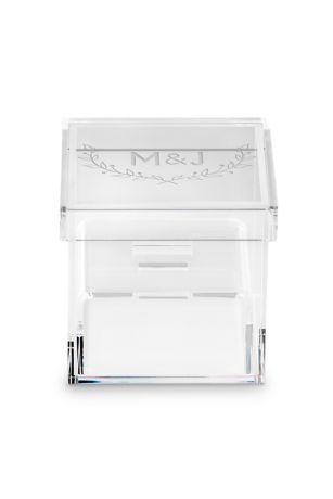Acrylic Monogram Ring Box