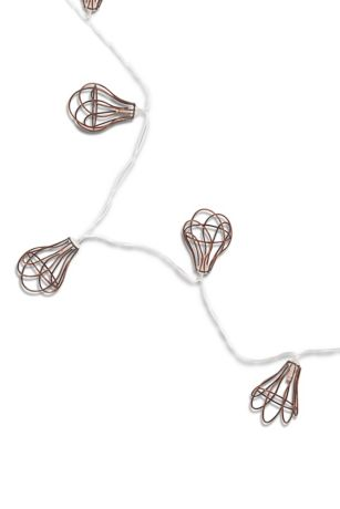 Light Bulb Wire Cage String Lights