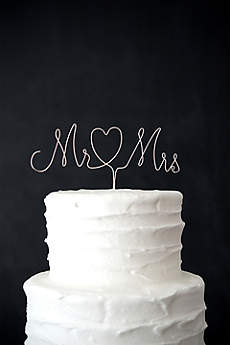 Mr. and Mrs. Wire Cake Topper