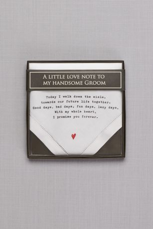 Groom Love Note Handkerchief