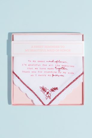 Maid of Honor Embroidered Handkerchief