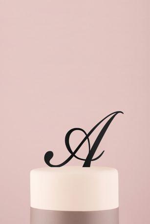 Personalized Script Monogram Acrylic Cake Topper