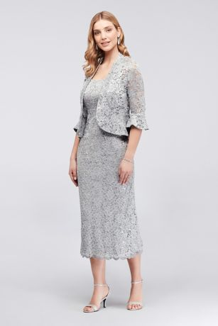 Tea Length Jacket Dress - RM Richards