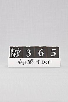 Mr and Mrs Wedding Countdown Blocks 999DB2071