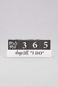 Mr and Mrs Wedding Countdown Blocks