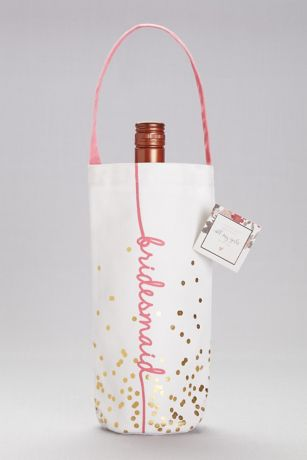 Bridesmaid Canvas Wine Tote