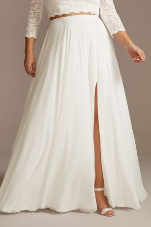 Long Separates Wedding Dress - David's Bridal