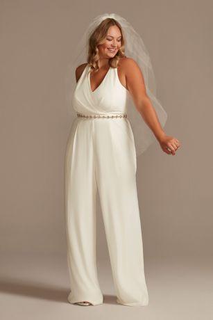Long Jumpsuit Wedding Dress - DB Studio