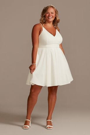 Short A-Line Spaghetti Strap Dress - David's Bridal