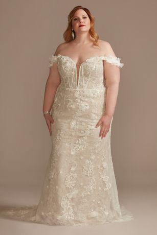 Long Sheath Wedding Dress - Galina Signature