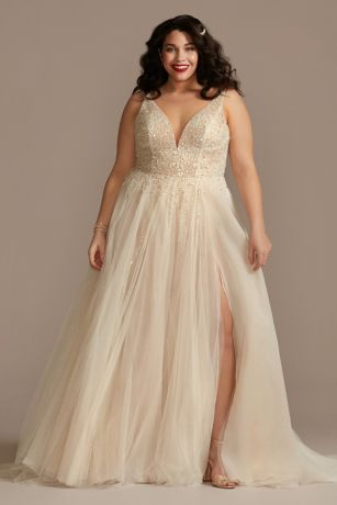 Long A-Line Wedding Dress - Galina Signature