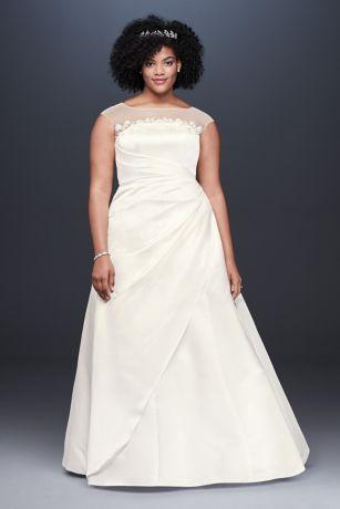 04c34a8b1617 Long A-Line Wedding Dress - David's Bridal Collection