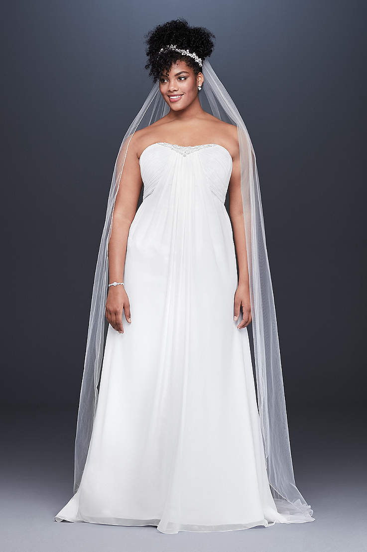 75acf8dde3 Long Sheath Wedding Dress - David s Bridal Collection