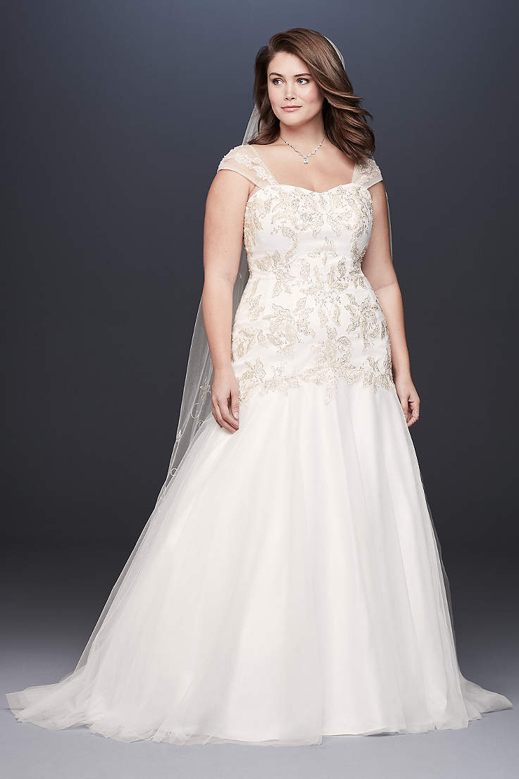 ... of wedding gown silhouettes. Long Mermaid  Trumpet Wedding Dress -  David s Bridal Collection 900bf1a4b364