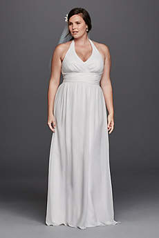 Halter wedding dresses gowns davids bridal long sheath beach wedding dress db studio junglespirit