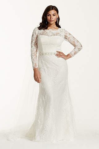 Long Sleeve Wedding Dresses & Gowns   David\'s Bridal