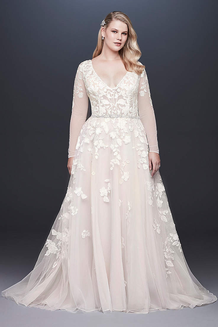 Moccha Wedding Dresses with Sleeves