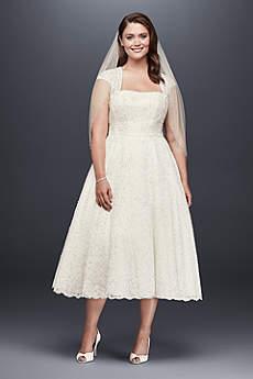 Short A-Line Vintage Wedding Dress - David's Bridal Collection