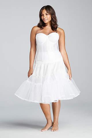 Bridal shapewear slip dresses davids bridal tea length plus size slip junglespirit Images