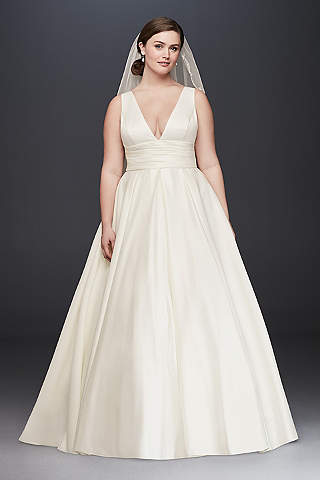 Long Ballgown Simple Wedding Dress