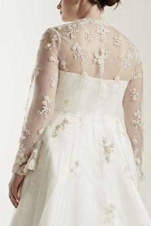 Plus Size Wedding Dress With Beaded Lace Jacket David S