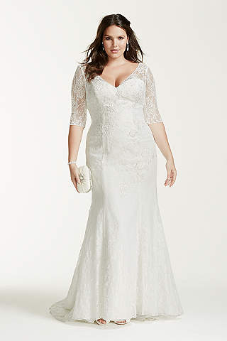 Simple long sleeved wedding dresses wedding ideas long sleeve wedding dresses gowns david s bridal junglespirit Choice Image