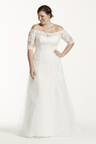 As-Is 3/4 Sleeve  Plus Size Wedding Dress