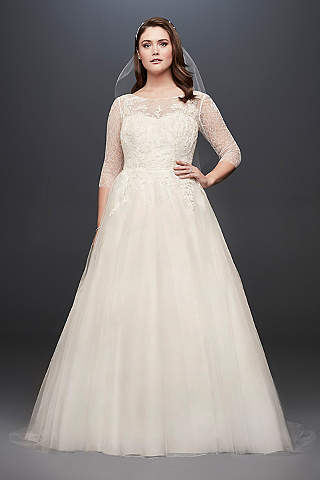 Plus Size Wedding Dresses with Sleeves | David\'s Bridal