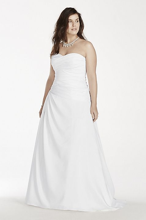 As-Is A-Line Plus Size Drop Waist Wedding Dress | David\'s Bridal
