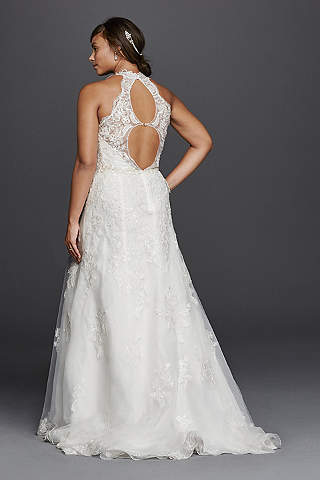 Halter wedding dresses gowns davids bridal long a line formal wedding dress jewel junglespirit Choice Image