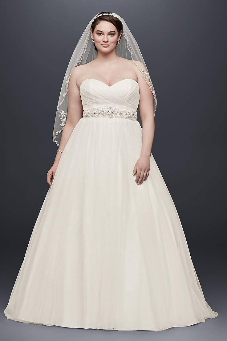 5c551401c Long Ballgown Wedding Dress - David s Bridal Collection
