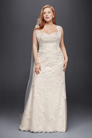 Long Sheath Wedding Dress - Jewel