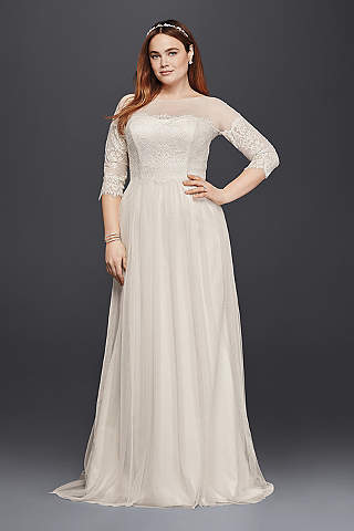 Long Sheath Beach Wedding Dress
