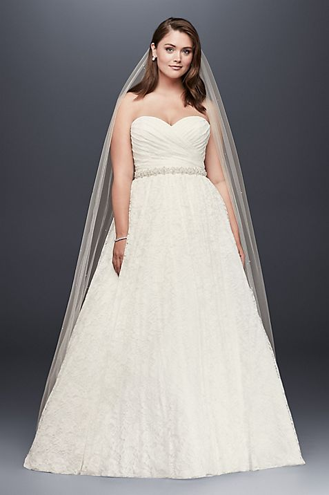 Lace Sweetheart Plus Size Ball Gown Wedding Dress | David\'s Bridal