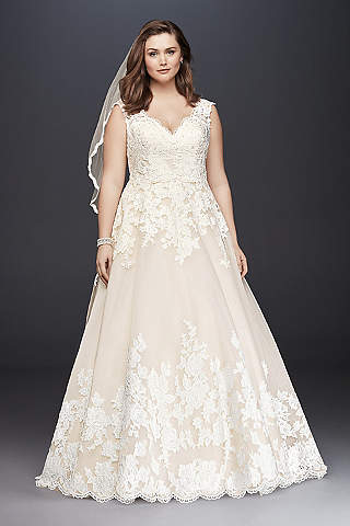 Extended Plus Size Wedding Dresses | Davids Bridal