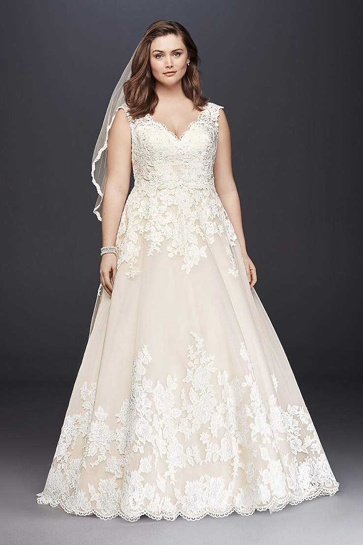 Extended Plus Size Wedding Dresses | Davids Bridal