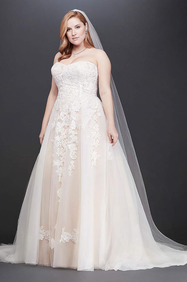 2a2023cf8140 Long Ballgown Wedding Dress - David s Bridal Collection