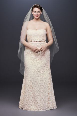 Guipure Lace Sheath Plus Size Wedding Dress